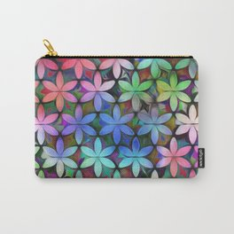 Tropical Rainbow Daisies Carry-All Pouch