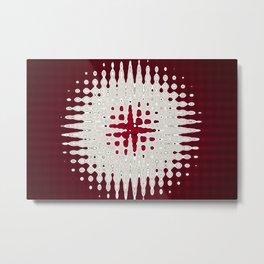 Melting Star Red Metal Print