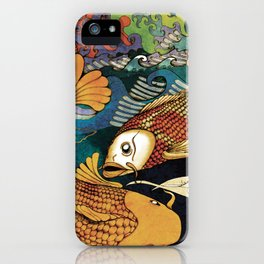 Koi & Egret iPhone Case