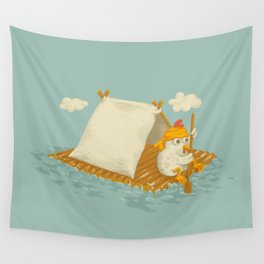 Chicken on a Raft Wall Tapestry