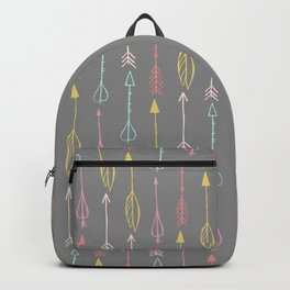 Hand Drawn Colorful Tribal Arrows Pattern Backpack