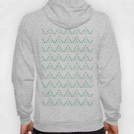 Modern pastel green white triangles chevron zigzag Hoody