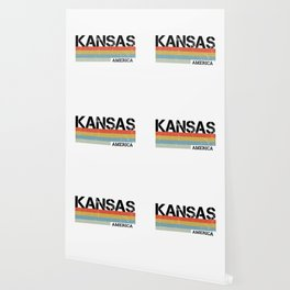 Kansas Design Gift & Souvenir For Kansas Print Wallpaper