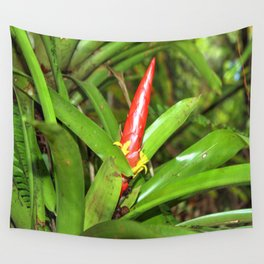 The Bromeliad (the air) plant in flower - El Yunque rainforest PR Wall Tapestry