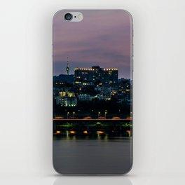Purple Skies Over Seoul iPhone Skin