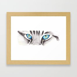 Blue Cat Eyes Framed Art Print