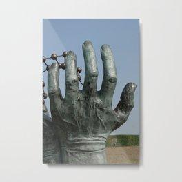 Saving Hands Metal Print