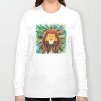 simba Long Sleeve T-shirts featuring Spirit of The Lion King by EmeraldSora