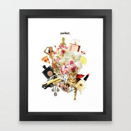 Perfect - Collage #1. Framed Art Print