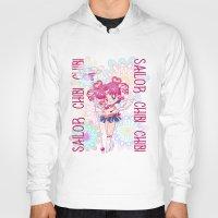 chibi Hoodies featuring Sailor Chibi Chibi Moon by Neo Crystal Tokyo