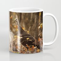 turkey Mugs featuring Wild Turkey by Jai Johnson