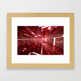 Ruby Tunnels Framed Art Print