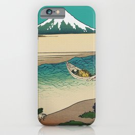 Tama River and Mount Fuji iPhone Case