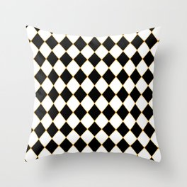 Chess board with golden threads Throw Pillow