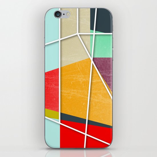 ColorBlock V iPhone Skin