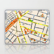 Tel Aviv map - Shenkin Area (Hebrew) Laptop & iPad Skin