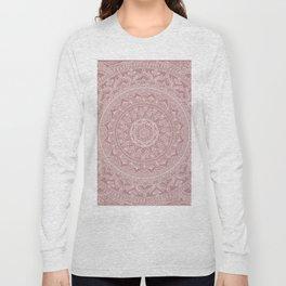 Mandala - Powder pink Long Sleeve T-shirt