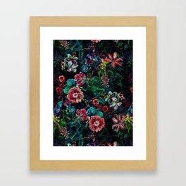 EXOTIC GARDEN - NIGHT IX Framed Art Print