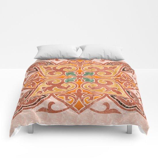 Brown Mandala 02 Comforters