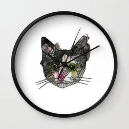 Geometric Rescue Cat Wall Clock
