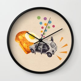 Don't Forget Breakfast! Wall Clock