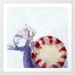 peppermint cand Art Print