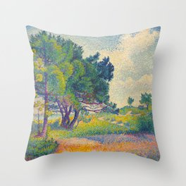 Small House at Saint Clair 1894 Henri-Edmond Cross Neo-Impressionism Pointillism Oil Painting Throw Pillow