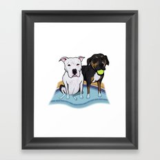 Pups In The Pool Framed Art Print