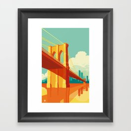 Brooklyn Bridge NYC Framed Art Print