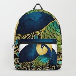 Golden Peacock Backpack