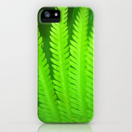 a green Fern iPhone Case