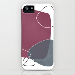 Abstract Glimpses in Mulberry and Peninsula Blue iPhone Case