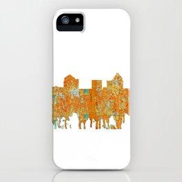 Greensboro, NC Skyline - Rust iPhone Case