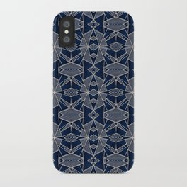 Triangle Tribal Indigo iPhone Case