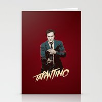 quentin tarantino Stationery Cards featuring Quentin by CromMorc