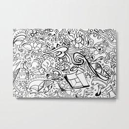 Phat leaf doodle Metal Print