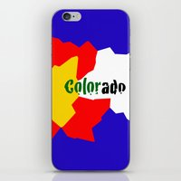 colorado iPhone & iPod Skins featuring COLORado by emscrazy8