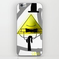 bill cipher iPhone & iPod Skins featuring Bill Cipher by Darkerin Drachen