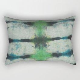Tie Dye Blue Green 3 Rectangular Pillow