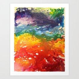 Wax Melting Art Print