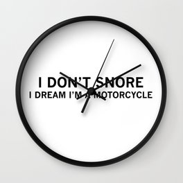 dad gift motorcycle Wall Clock