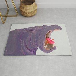 Lippy Hippo Rug