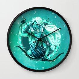 Turquoise Sagittarius Wall Clock