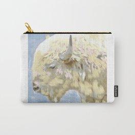 White buffalo calf Carry-All Pouch