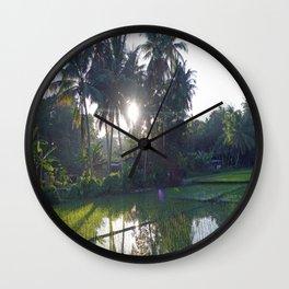 Philippine Rice Fields Wall Clock