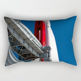 Vintage Spaceship Booster Against The Blue Sky Rectangular Pillow