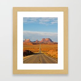 Highway to Monument Valley Framed Art Print