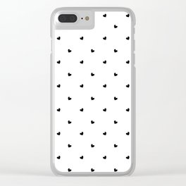 black hearts pattern Clear iPhone Case