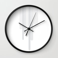 White Trickle Wall Clock