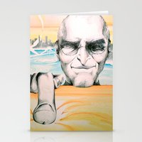 steve jobs Stationery Cards featuring Steve Jobs by Julie Roth Illustration